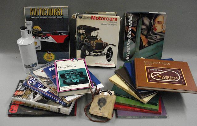 A good lot of motoring related literature and ephemera,
