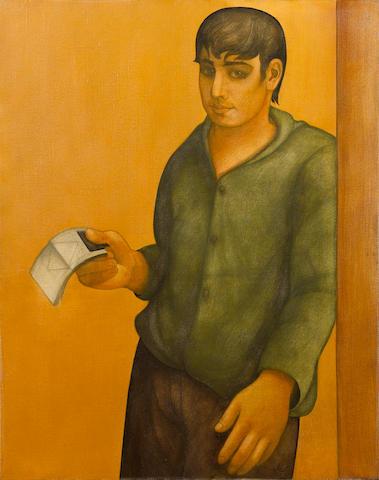 Louay Kayyali (Syria, 1934-1978) The Lottery Boy or 'Seller of Yanaseeb'