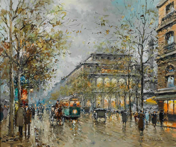 Antoine Blanchard (French, 1910-1988) Early evening in Paris 22 x 18 in