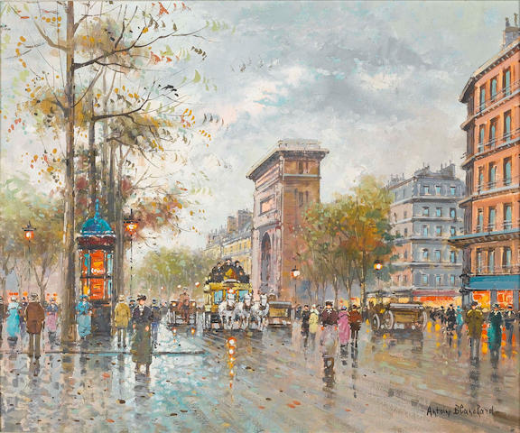 Antoine Blanchard (French, 1910-1988) Porte Saint Denis, Paris 51 x 61 cm (20 x 24 in)