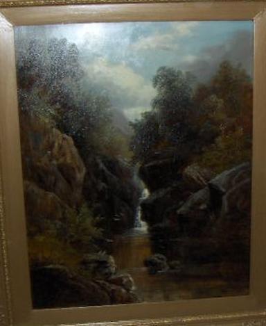 William Mellor (British, 1851-1931) Falls on the upper River Tees