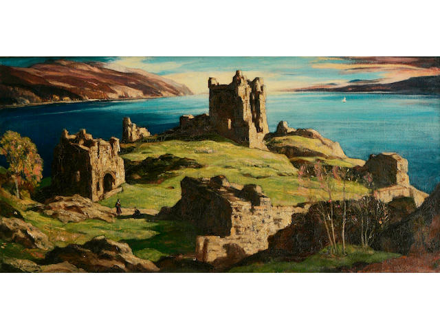 Sir David Young Cameron, RA RSA RWS RSW RE (British, 1865-1945) Castle Urquhart, Loch Ness