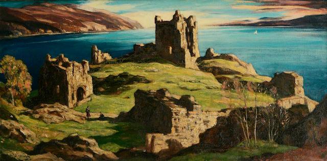 Sir David Young Cameron, RA RSA RWS RSW RE (British, 1865-1945) Castle Urquhart, Loch Ness