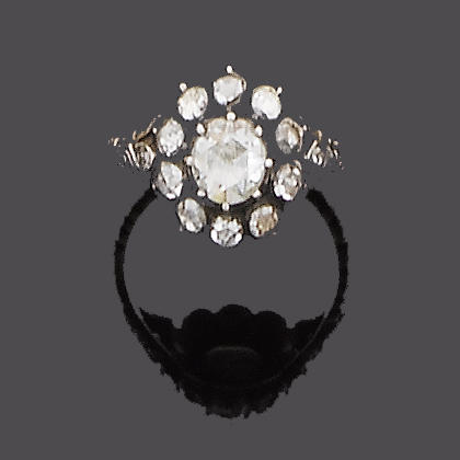 An early 19th century diamond cluster ring