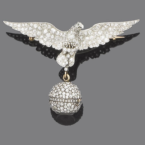 An early 20th century diamond fob watch,
