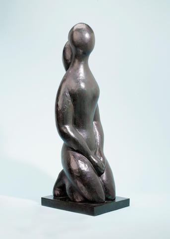 Baltasar Lobo (Spanish, 1910-1993) Jeune fille, mains croisées sur soclé 87 x 31 x 33 cm (34 1/4 x 1