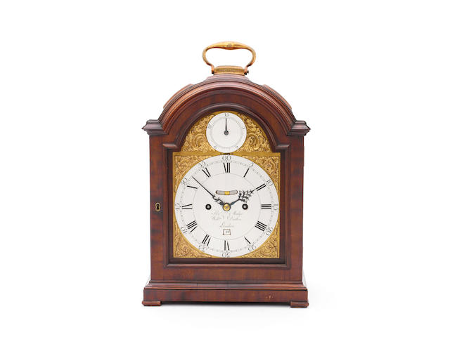 A fine late 18th century mahogany triple pad top bracket clock Thomas Mudge & William Dutton, London