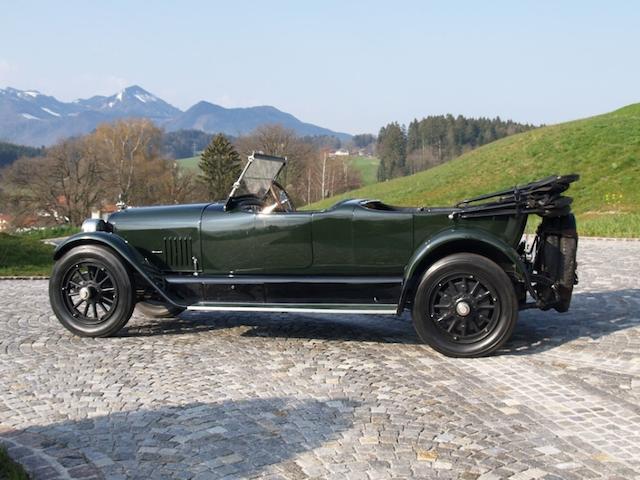 1922 Mercer Series 5 70hp Super Tourer  Chassis no. 18490 Engine no. 6397