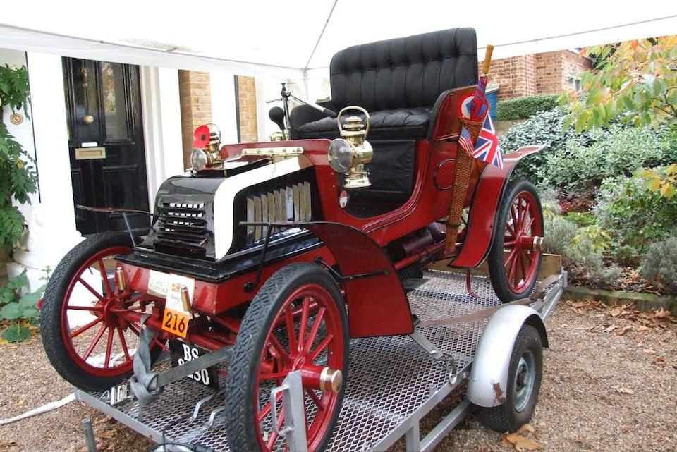 Regent Street Concours winning,1903 Crestmobile Model D 5hp Runabout  Chassis no. 308 Engine no. 1006