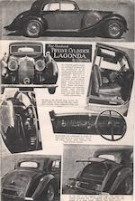 1938 Lagonda V12 sports saloon,