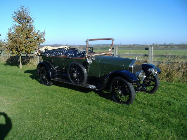 1919 Wolseley 16/20hp Five-seat Tourer  Chassis no. 27182 Engine no. 130A244S