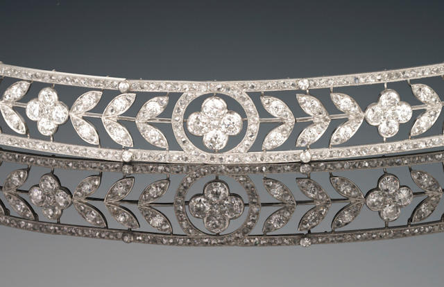 A 'Greek' diamond bandeau, by Boucheron,