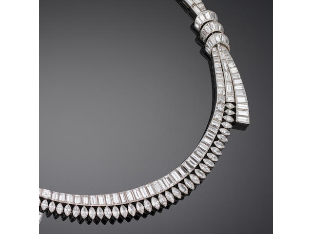 A diamond necklace, by Boucheron,