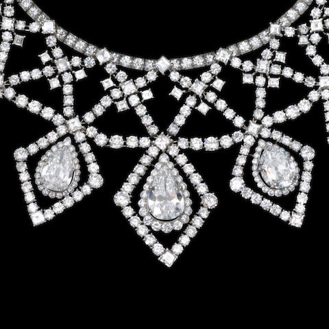 An impressive diamond necklace, by Cartier,