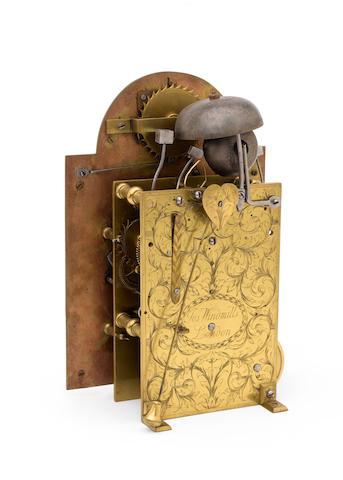 An early 18th century ebony veneered quarter repeating bracket timepiece Joseph Windmills, London