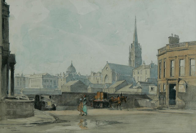 Robert Eadie, RSW (British, 1877-1954) The Opera House, India St, Glasgow