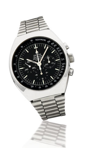 Omega. A stainless steel automatic chronograph wristwatch Speedmaster, Mark II, 1970's