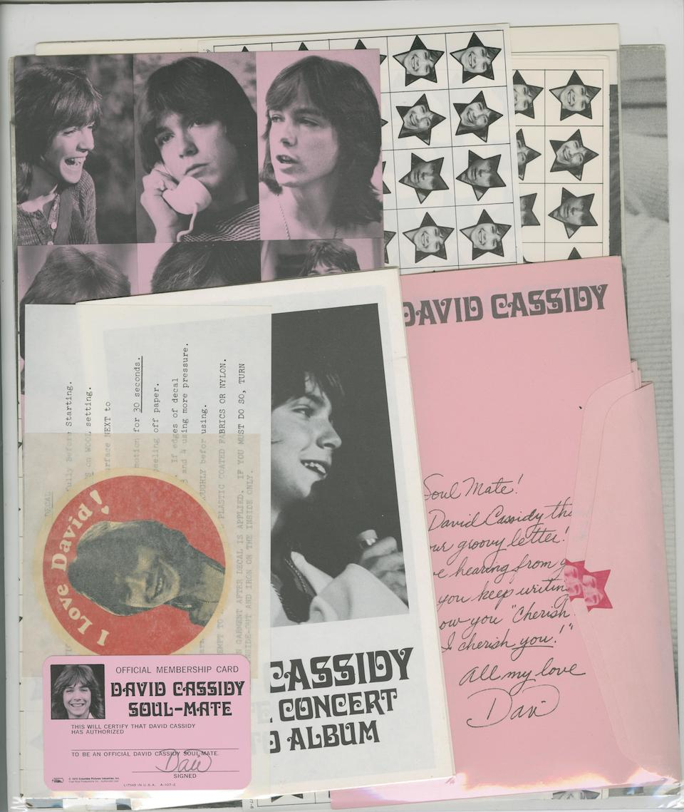 David Cassidy/Partridge Family memorabilia, including boxed Partridge Family bus, US, 1970s,