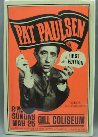 A Pat Paulsen tour poster, U.S., 1960's