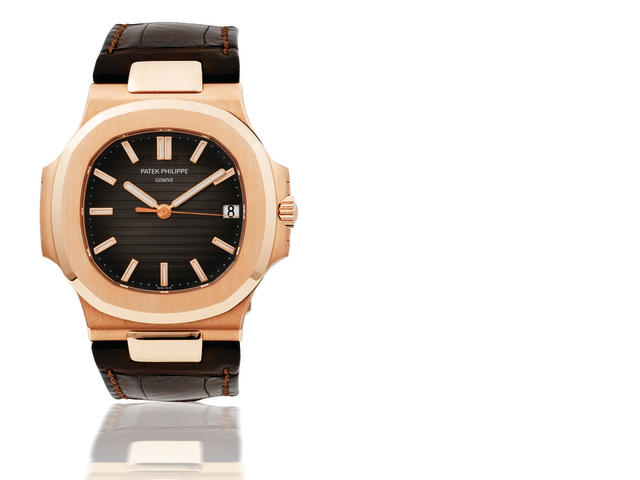 Patek Philippe. A fine 18ct rose gold automatic wristwatch with date Nautilus, Ref:5711R-001, Case number 3619383 / 4426520, Made in 2007