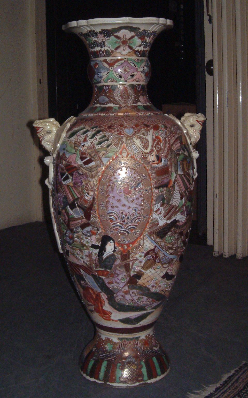 A large satsuma baluster vase Meiji Period