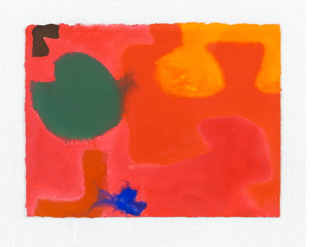 Patrick Heron (British, 1920-1999) June Mini 8 : 1968 17.8 x 23.5 cm. (7 x 9 1/4 in.)