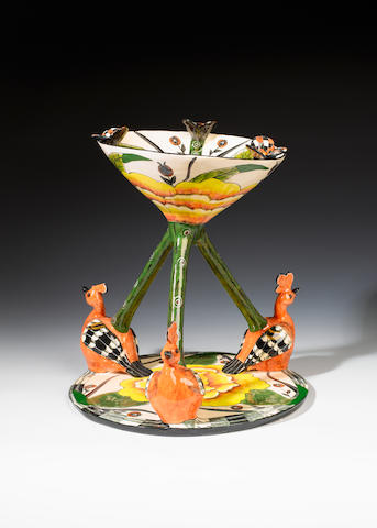 Ardmore Ceramics A hoopoe sweet dish 30 cm. (11¾ in.) high