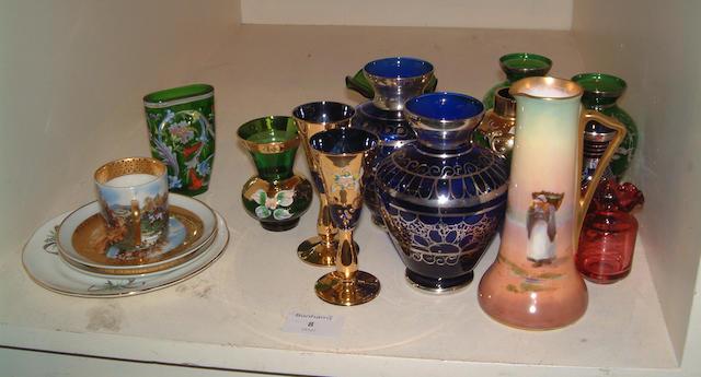 A small quantity of ceramics including a Doulton seriesware jug etc (qty)