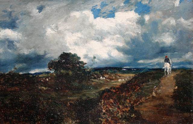 Attributed to Sir Herbert Edwin Pelham Hughes-Stanton, RA PRWS (British, 1870-1937) Country landscap