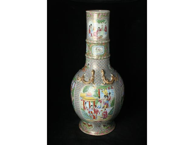 A Chinese Canton famille rose floor vase, 19th Century