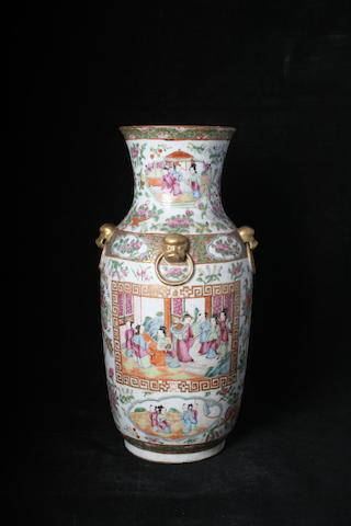 A Chinese Canton famille rose vase, 19th Century