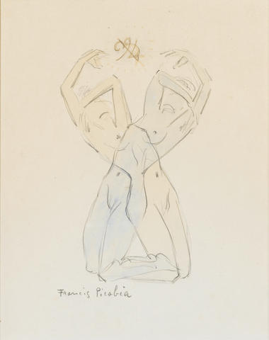 Francis Picabia (French, 1878-1953) Transparence 24 x 18.5 cm (9 1/2 x 7 1/4 in)