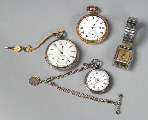 A silver pocket watch by Frodsham & Baker 4