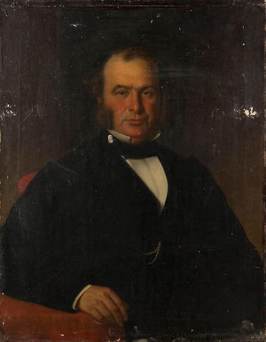 John Edgar Williams (British, 19th Century) A portrait of Mr J Sowerby, seated half length (and a companion, his wife, both unframed.)