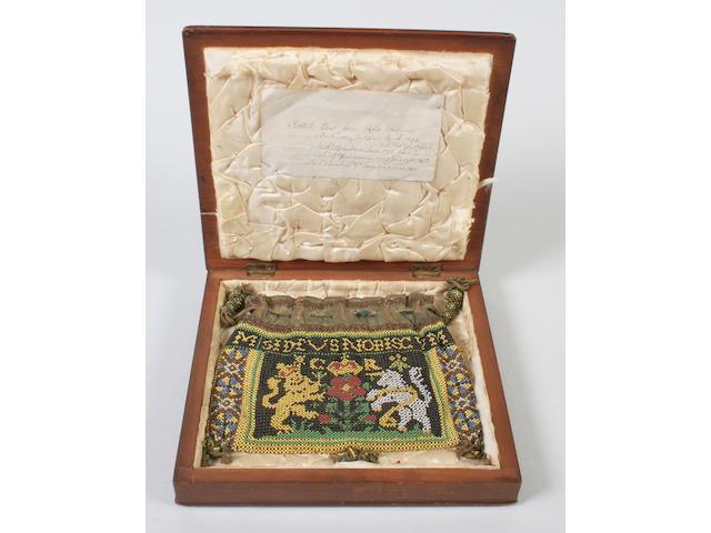 A 17th century beadwork purse