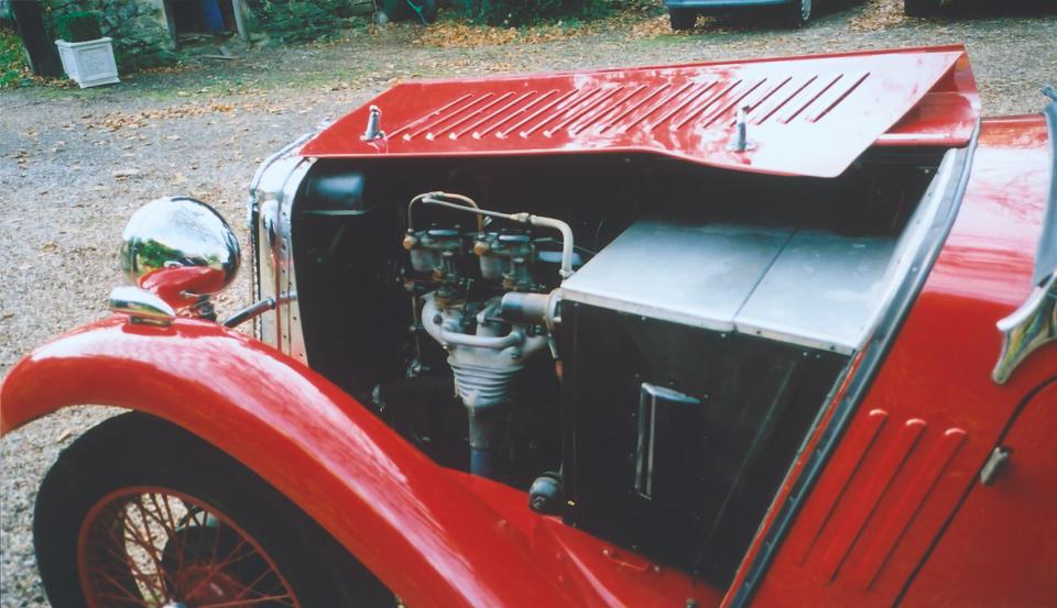 1933 Singer Nine Sports Four-Seat Tourer  Chassis no. 49998 Engine no. 51214