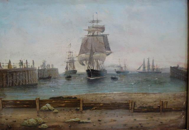 Captain Charles Keith Miller (British, fl 1874-1903) Ayr harbour