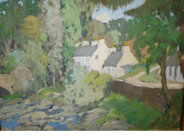 James Wright, RSW (British, circa 1885-1947) Balgie Bridge, Glen Lyon