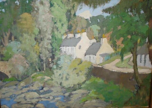 James Wright, RSW (British, circa 1885-1947) Balgie Bridge, Glen Lyon