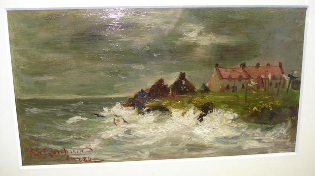 Robert Gemmell Hutchison, RSA RBA ROI RSW (British, 1855-1936) An east coast village