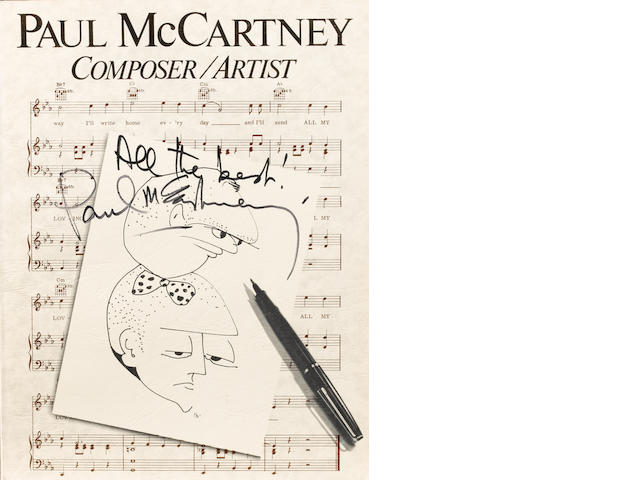 An autographed copy of 'Paul McCartney Composer/Artist',