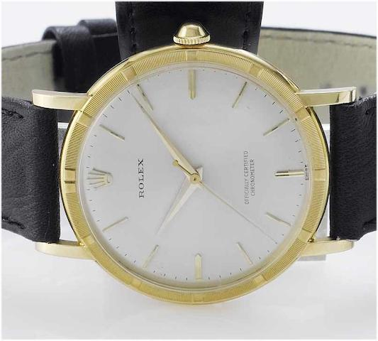 Rolex. An 18ct gold centre seconds wristwatch  Sold in 1967