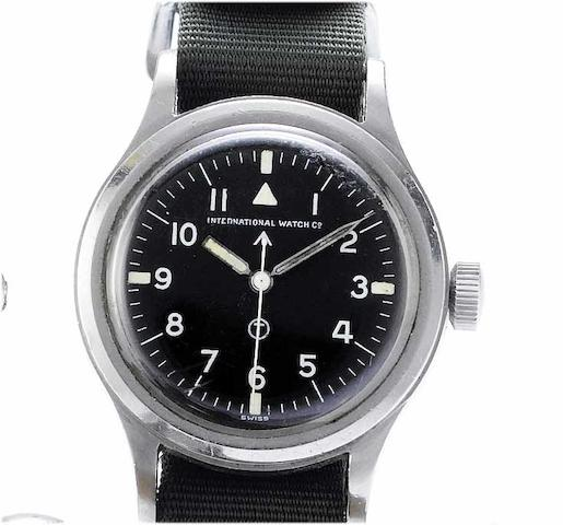 IWC. A stainless steel centre seconds military issue wristwatchMark XI 6B/346, 406/52, 1952