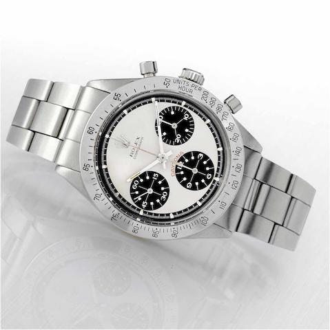 "Rolex. A fine and rare stainless steel chronograph wristwatch Cosmograph Daytona, ""Paul Newman"", Ref.6239, circa 1963"