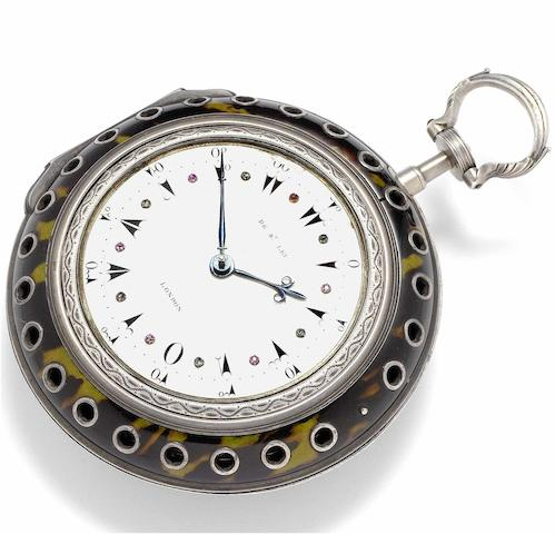 Daniel de St. Leu. A fine and rare silver triple-cased quarter-striking coach watch made for the Turkish market No.3510,  London Hallmark for 1785