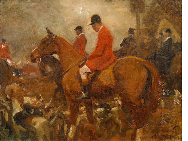Sir Alfred James Munnings P.R.A., R.W.S. (British, 1878-1959) Hunt Study