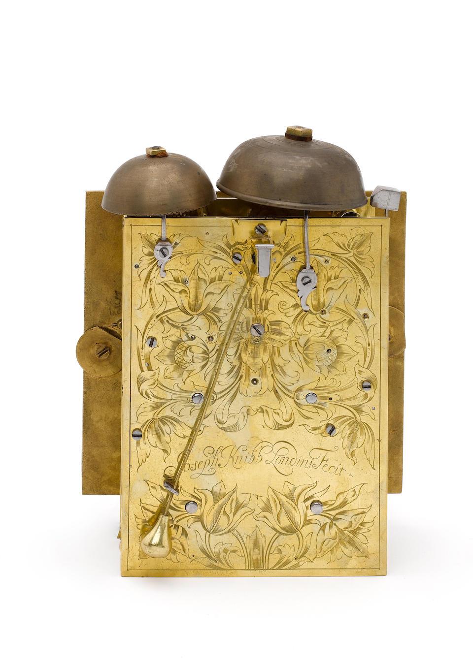 A fine late 17th century gilt metal mounted ebony veneered quarter repeating bracket clock Joseph Knibb, London