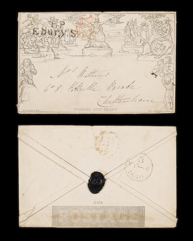 "Mulreadys and other printed items 1d. envelope A163 from London to Cheltenham with ""T.P/Ebury St."" a"