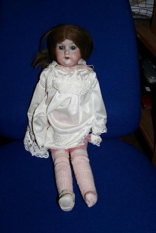 An Armand Marseille bisque head doll,