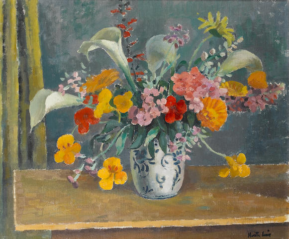 Alfred Neville Lewis (South African, 1895-1972) Still life of flowers